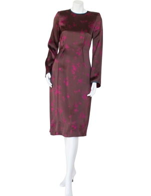 Odeeh Odeeh Satin Long Sleeved Dress (was $1095.) Dresses Sale