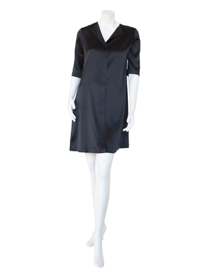 Peter Cohen Peter Cohen Black Heavy Satin Dress Dresses