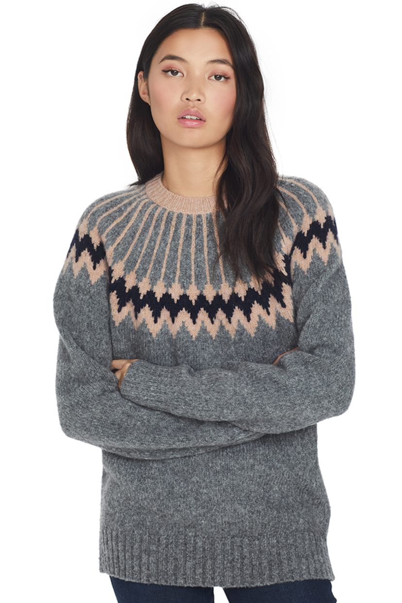GREY Jason Wu Olympia Knit Sweater (Gravel) Tops
