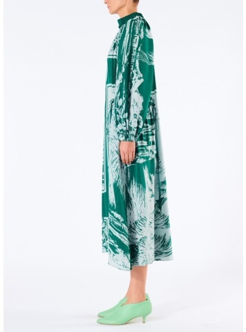 Tibi LEILANI ON SILK DRAWSTRING MIDI DRESS Dresses
