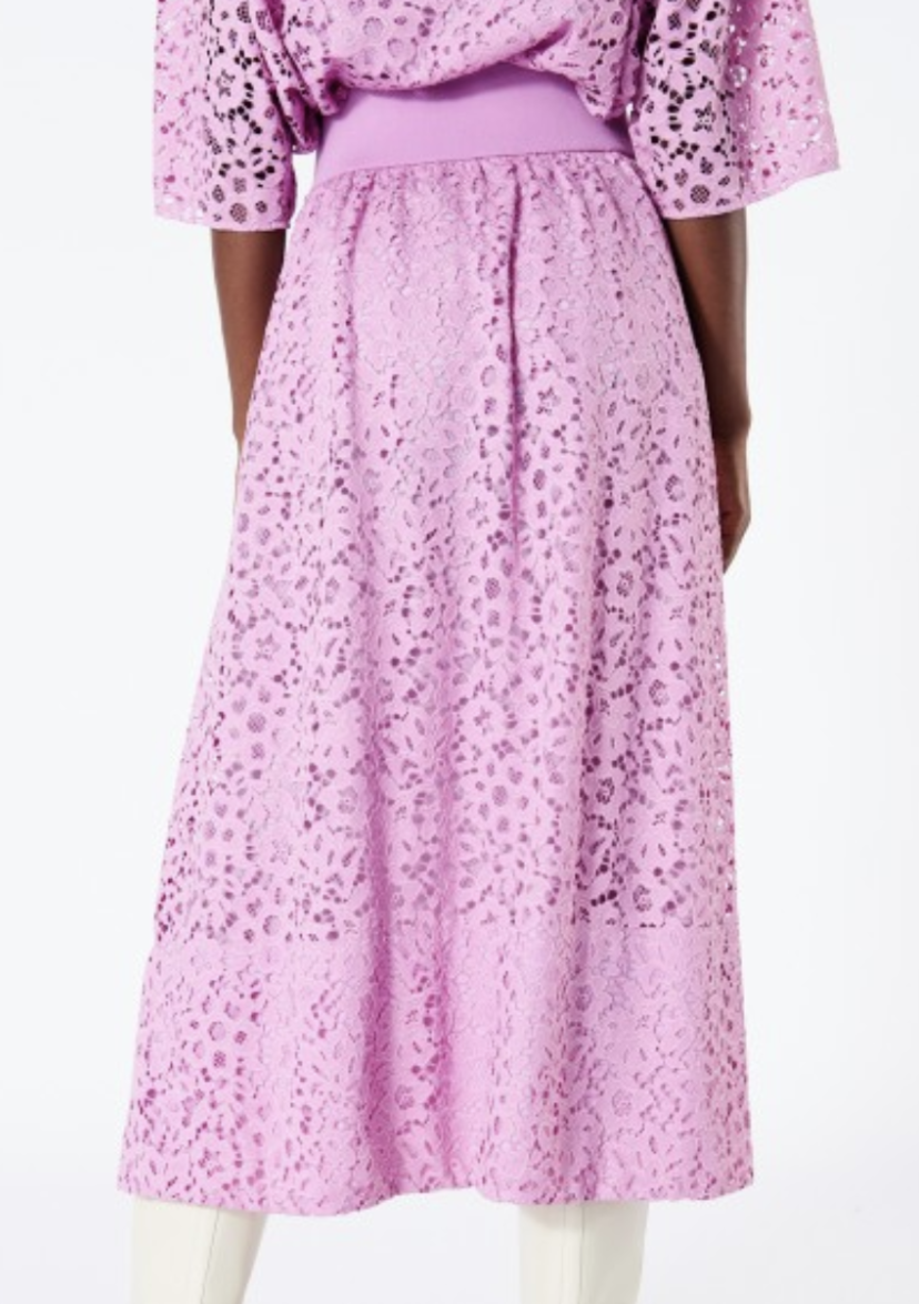 Tibi LACE SHIRRED WAISTBAND FULL SKIRT Skirts