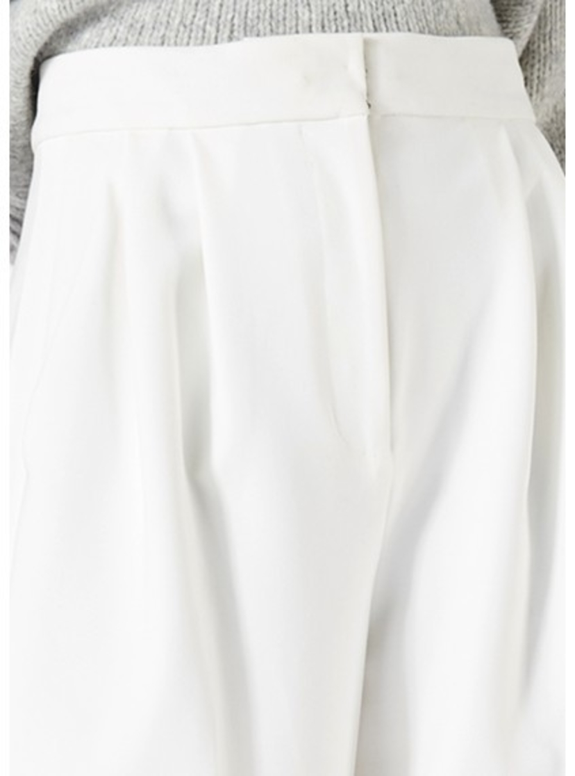 Tibi ANSON STRETCH CUFFED CROPPED WIDE LEG PANTS Pants