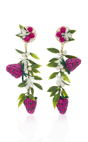 Mercedes Salazar Strawberry Earrings Jewelry