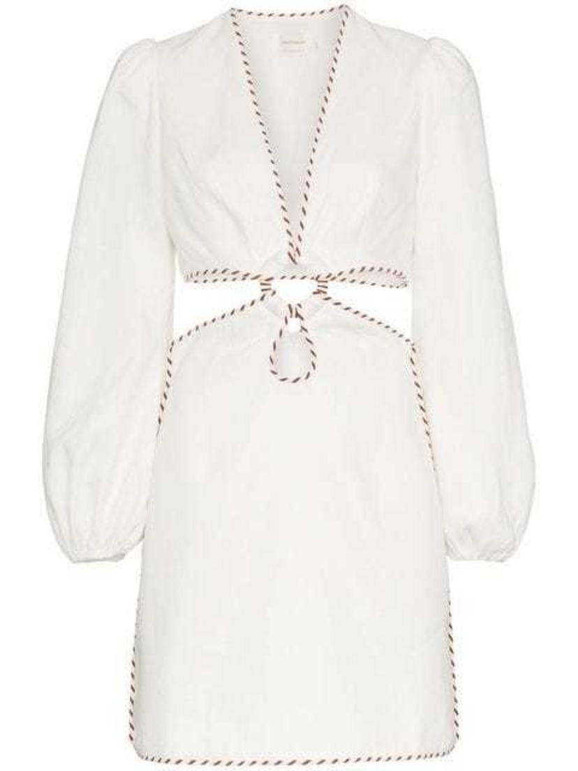 Zimmermann Zimmermann - Corsage Cutout Mini Dress