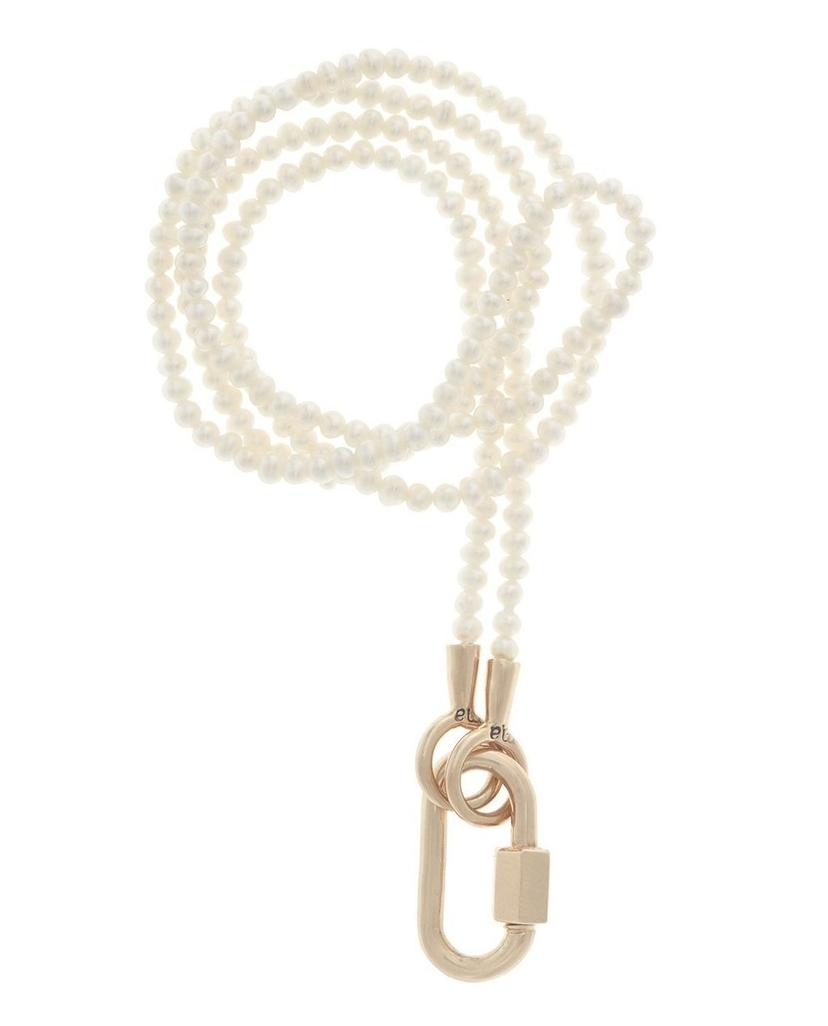 Marla Aaron Marla Aaron Seed Pearl Necklace with Rose Gold Baby Lock Jewelry