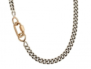 Marla Aaron Marla Aaron Baby Lock and Heavy Curb Chain Necklace Jewelry