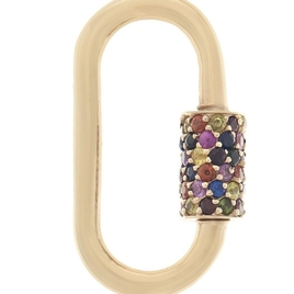 Marla Aaron Stoned Regular Lock with Mixed Sapphires