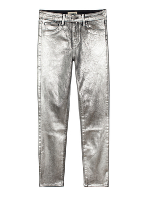 L'Agence Margot Jean - Silver Foil Gifts Pants