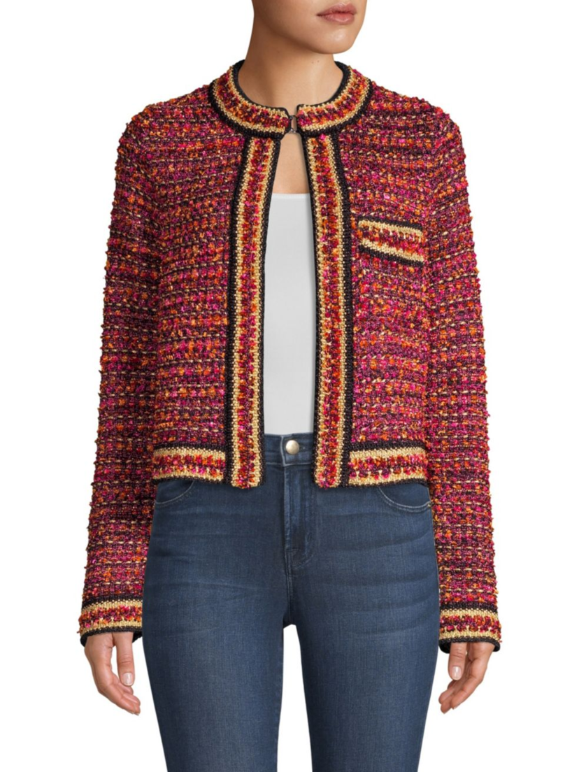 M Missoni Boucle Tweed Jacket Outerwear Tops