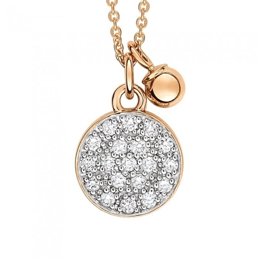 Ginette NY Diamond Mini Ever Disc on Chain Jewelry