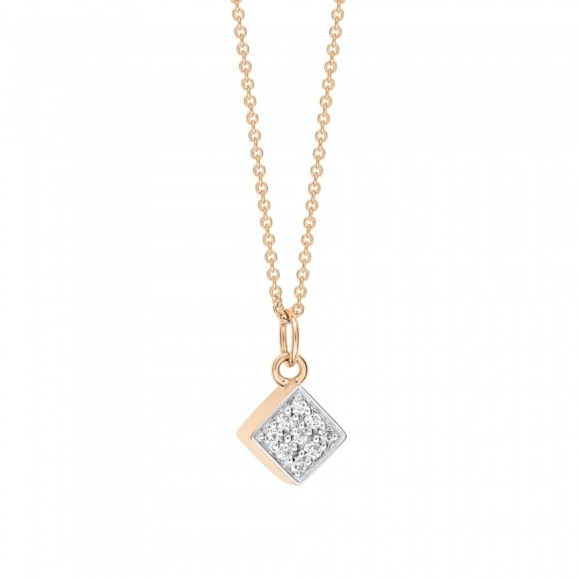 Ginette NY MINI DIAMOND EVER SQUARE ON CHAIN Jewelry