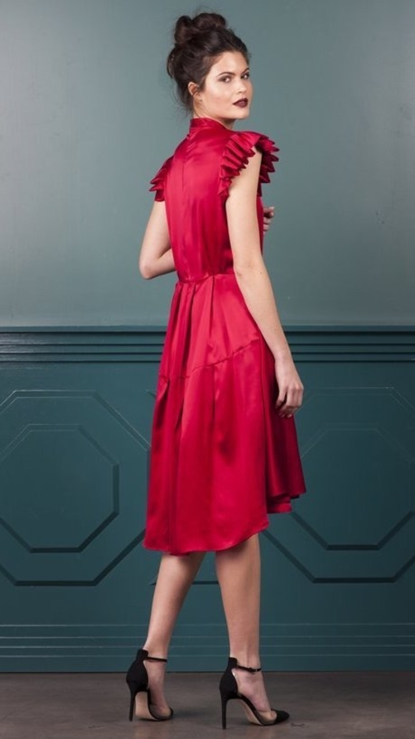 Katherine Kidd Ines C Dress - Red Dresses