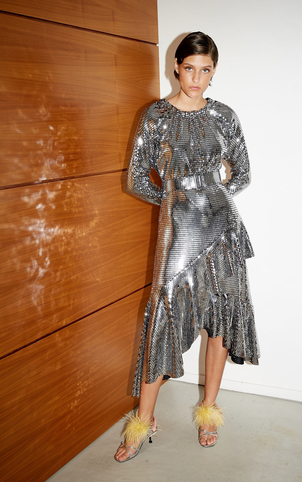 Delfi Ty Dress - Silver (Originally $395) Dresses Sale