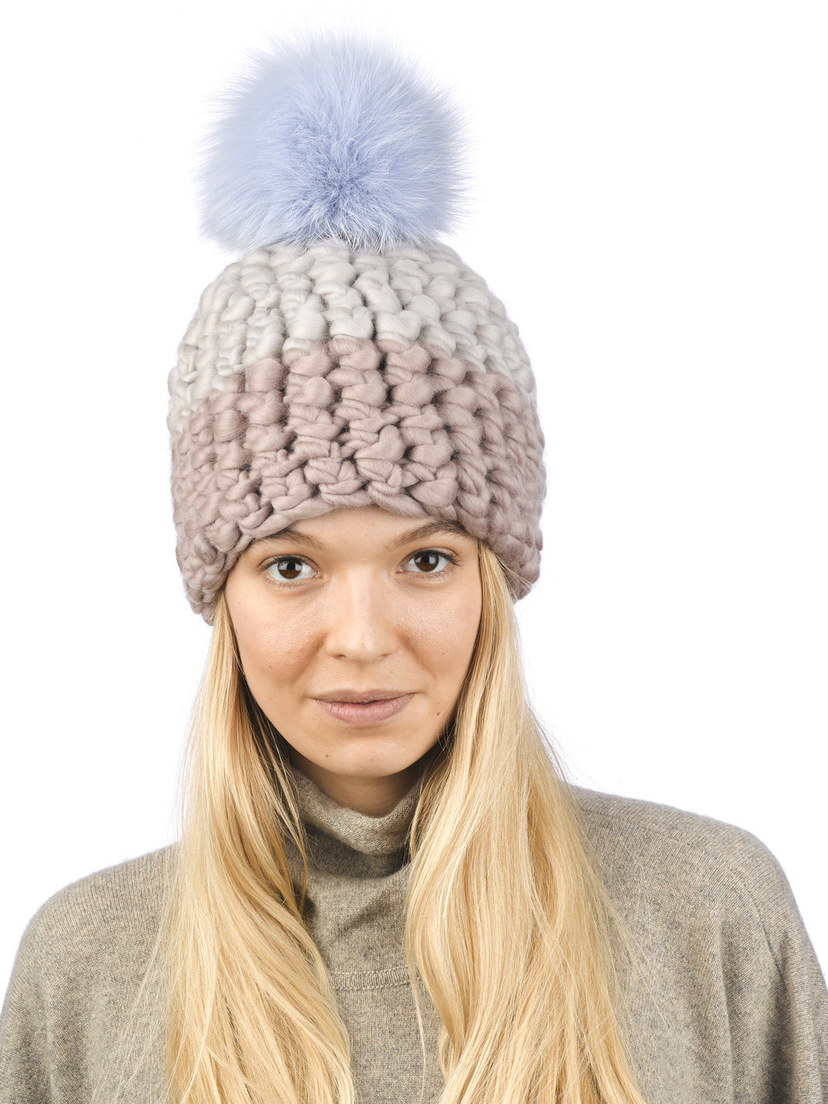 Mischa Lampert Deep Beanie Colorblock - Tan Accessories