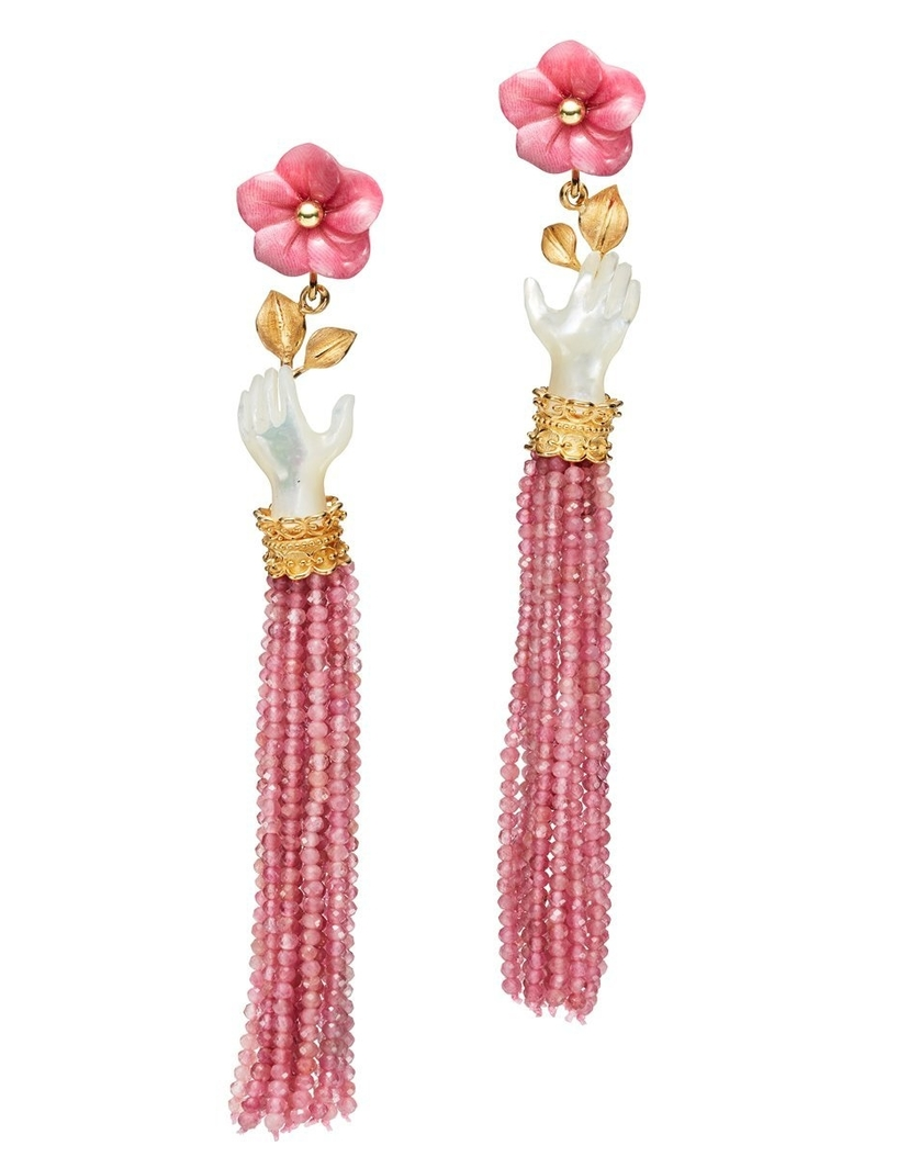 Of Rare Origin Bloom Earrings in Pearl and Rose Jewelry