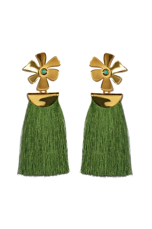 Lizzie Fortunato Daisy Crater Earrings Jewelry