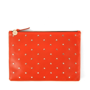 Clare V. Orange Studded Clutch Bags Gifts