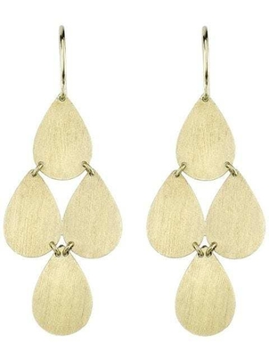 Irene Neuwirth Flat Gold Drop Earrings Gifts Jewelry