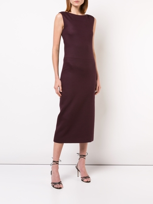 Adam Lippes Double Face Wool Boatneck Dress Dresses