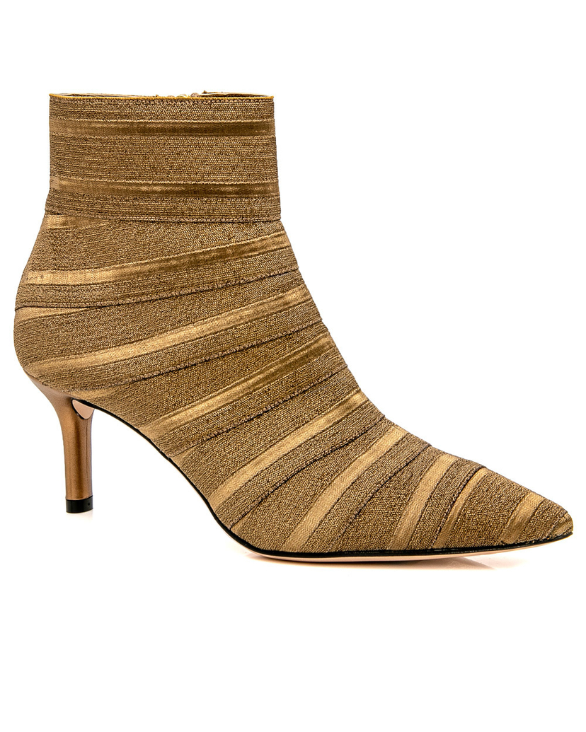 casadei Casadei Flash Bronze Alma Bootie Shoes