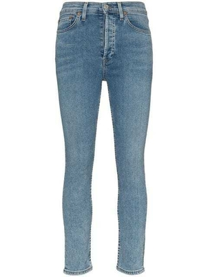 RE/DONE Re/Done - High-Waisted Cropped Jeans