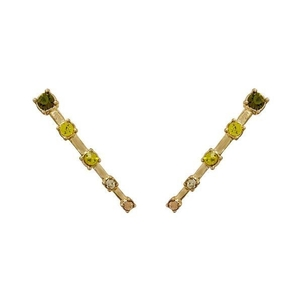 Luv AJ OMBRE CONSTELLATION CRAWLER EARRINGS- GOLD Jewelry