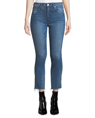 AMO Stix Mid-Rise Cropped Skinny Jeans Pants