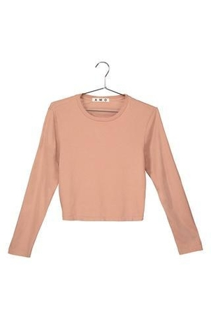 AMO Long Sleeve Babe Tee Tops