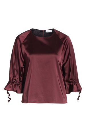 Rosetta Getty Ruched Drawstring Top Tops