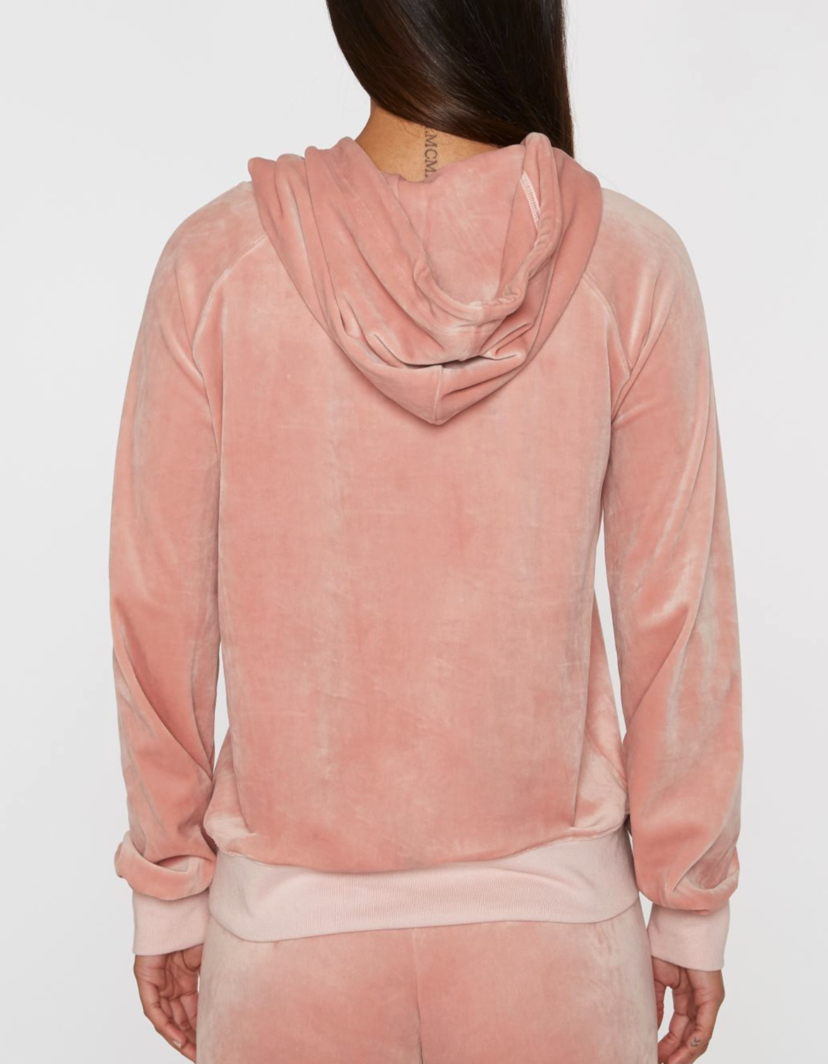 Pam & Gela Hollywood Velour Hoodie Outerwear Tops