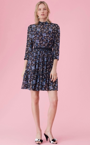 Rebecca Taylor Floral Chiffon Dress Dresses