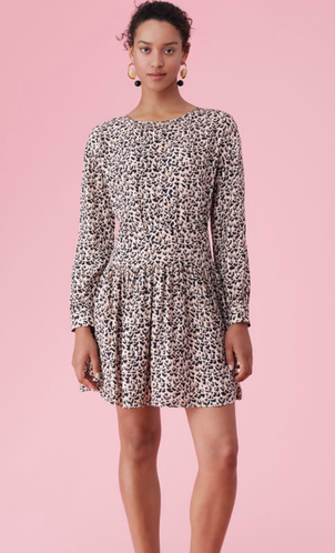 Rebecca Taylor Leopard Spot Dress Dresses
