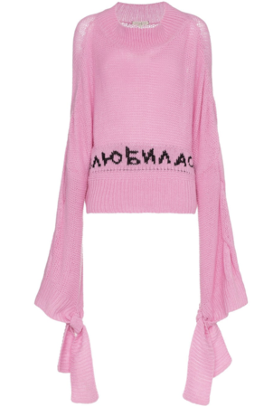 Natasha Zinko Long Sleeve Pink Jumper (Originally $1,415) Sale Tops