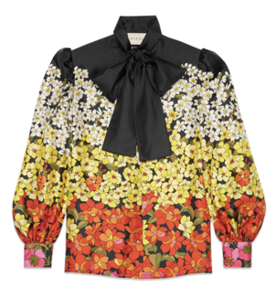 Gucci Floral Shirt Tops