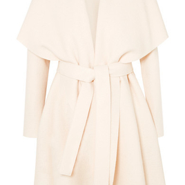Belted Wool Felt Coat - Cream