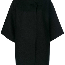 Oversized Cape Coat - Black