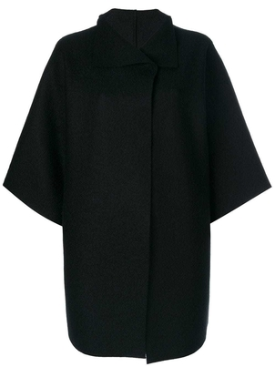 Harris Wharf London Oversized Cape Coat - Black Gifts Outerwear