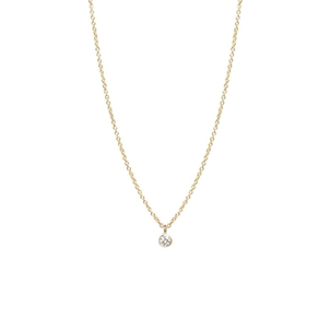 Zoe Chicco 14K Single Diamond Pendant Necklace Gifts Jewelry