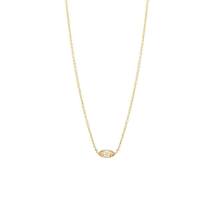 Zoe Chicco 14K Small Diamond Eye Necklace Gifts Jewelry