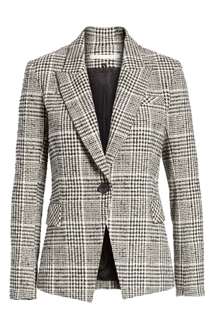 Veronica Beard Rhett Dickey Jacket - Black/White Gifts Outerwear