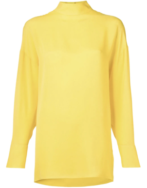 Valentino Long Sleeve Yellow Blouse (Originally $1,490) Sale Tops