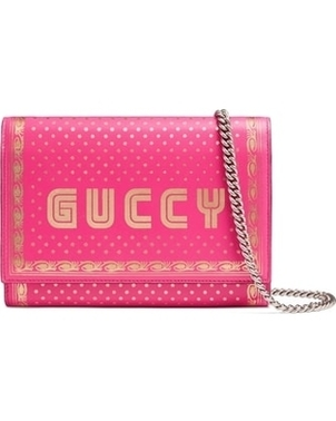 "Gucci ""Guccy"" Pink Crossbody Bags"
