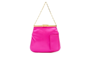 Bienen Davis Pink Satin 4am Chain Bag Bags