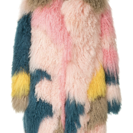 Multicolored Shearling Coat (Originally $7,095)