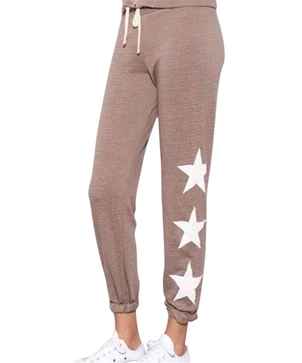 Sundry Star Sweat Pants - Mink Gifts Pants Sleepwear