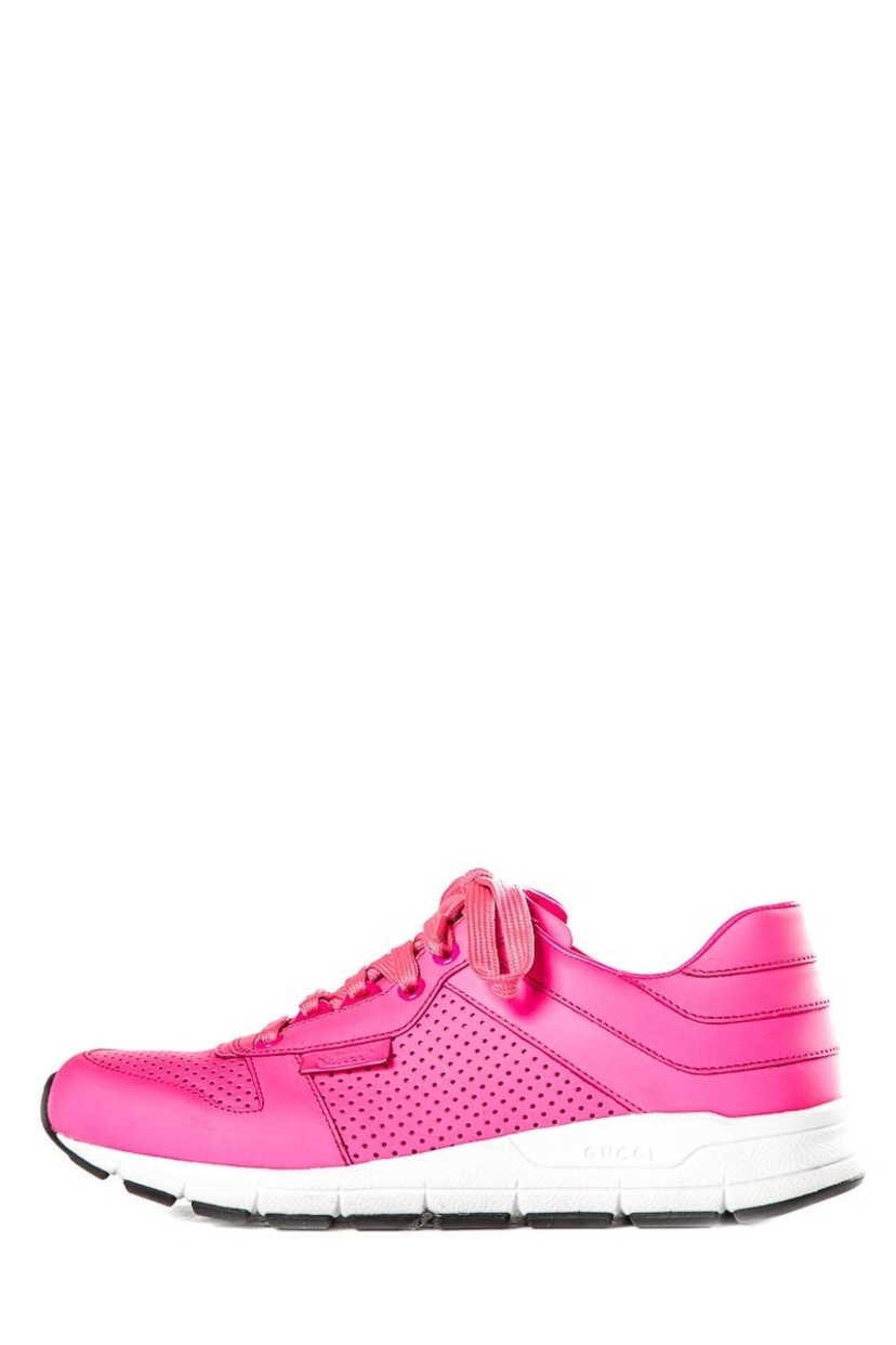 Gucci Gucci Hot Pink Round-Toe Sneakers Sz 38.5 Shoes