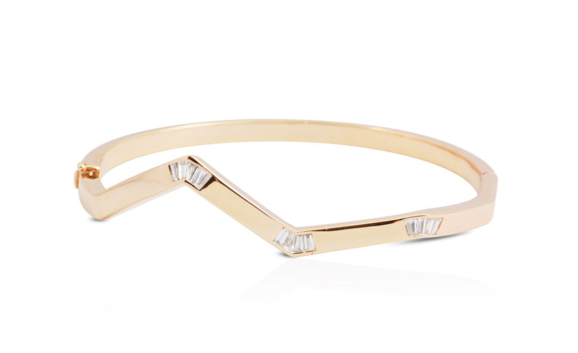 Kavant & Sharart Origami Ziggy Diamond Minimalist Bangle Jewelry