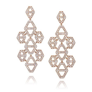 Walters Faith Diamond Hexagon Chandelier Earrings Jewelry