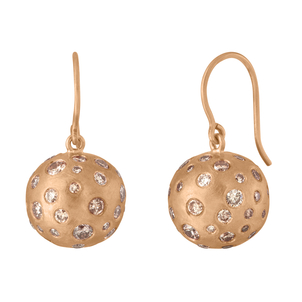 LJ Cross Cobblestone Ball Drop Earrings Jewelry