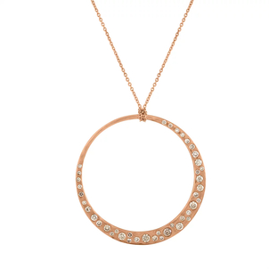LJ Cross Cobblestone Crescent Pendant Jewelry